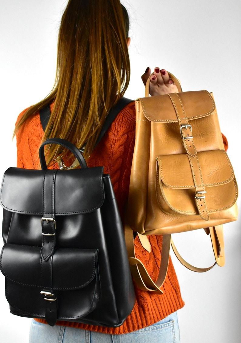 iPad backpack Greek leather bags student bag women knapsack Premium Medium leather backpack women/'s backpack