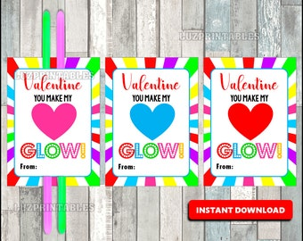 photo about You Make My Heart Glow Printable referred to as Shine adhere tag Etsy