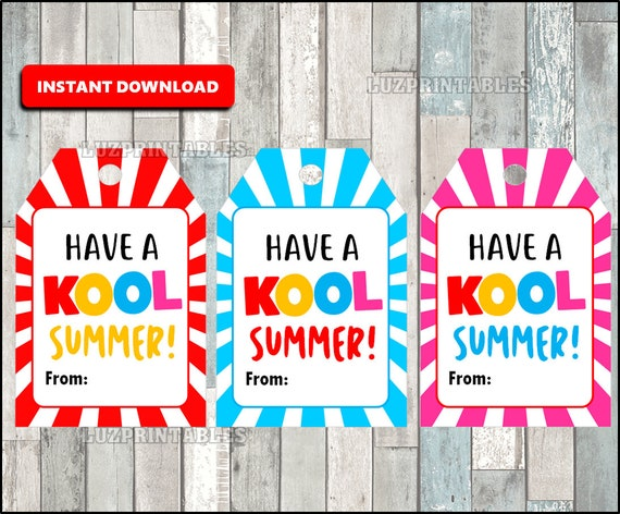 photo relating to Have a Kool Summer Printable identify Printable Stop of the calendar year Incorporate a KOOL Summer time Card, Quick Down load
