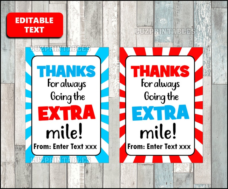 graphic relating to Thanks for Going the Extra Mile Printable identified as Because of for moving the Added mile Tag, Trainer Appreciation Present Tags, Gum Thank On your own Tag, Printable, Editable, Custom-made Prompt Down load