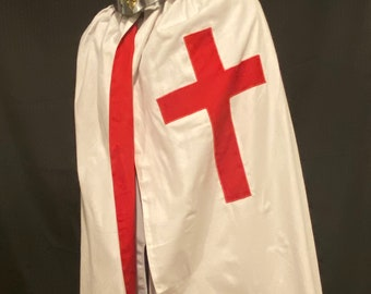 Knights Templar Cloak/Mantle with Christian Cross (Ceremonial)