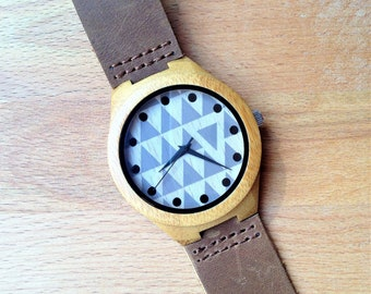 Mens Watch. Wood Watch  Engraved Wood Watch  Anniversary Gifts for Boyfriend  Personalized Watch  Mens Wooden Watch  Engraved Watch