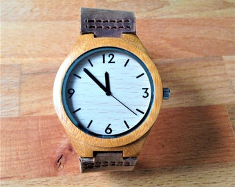 Gift For Dad. Wood Watch, Engraved Wood Watch, Anniversary Gifts for Boyfriend, Personalized Watch, Mens Wooden Watch, Engraved Watch