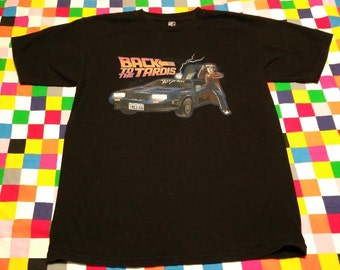 Back to the Tardis Novelty T-shirt Doctor Who Back to the Future Mash Up