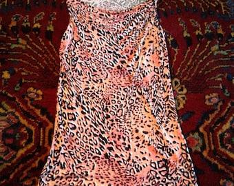 Coral Pink Leopard Mini Dress