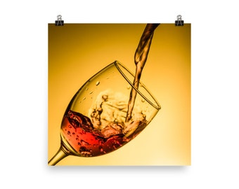 Wine Poster - wine print, wine art, wine wall art, wine decor, kitchen poster, wine lover gift, wine art print, wine, wine quote, wine gift,