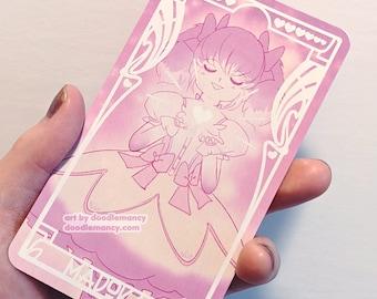 Madoka Kaname Tarot Card Print