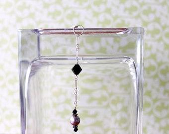 Purple Pearl Scarf Pin