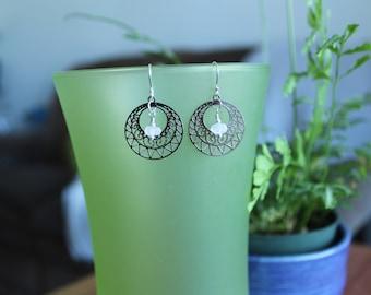 Enjy Round Filigree Earrings