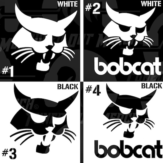Bobcat Logo Set Of 2 You Pick Style And Color Skid Steer