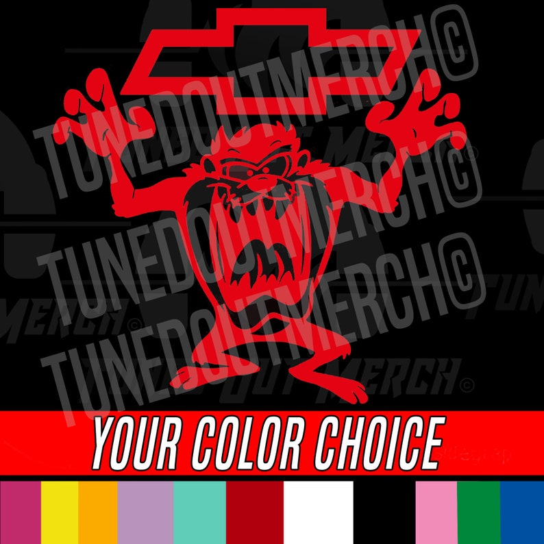 Chevrolet Chevy TAZ Angry Emblem Logo Bowtie Bow Tie Your Color & Size Car  Truck Window Wall any smooth surface Vinyl Decal Sticker
