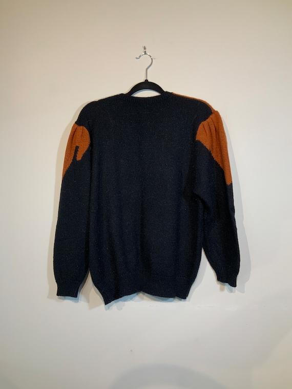 Puff Sleeve Beaded Sweater - image 3