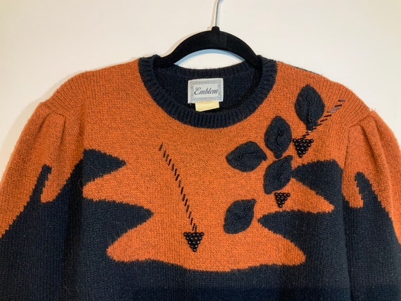 Puff Sleeve Beaded Sweater - image 6