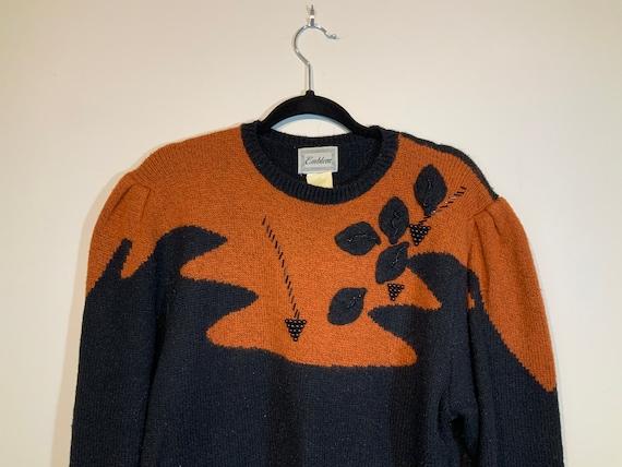 Puff Sleeve Beaded Sweater - image 4