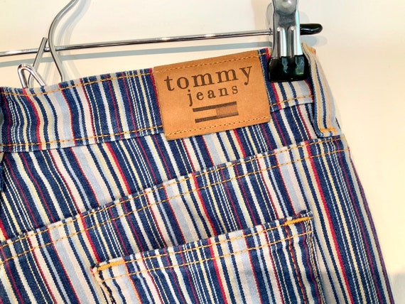 70s Tommy Striped Flare Jeans