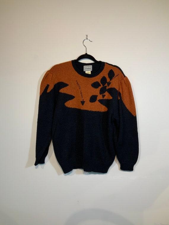Puff Sleeve Beaded Sweater