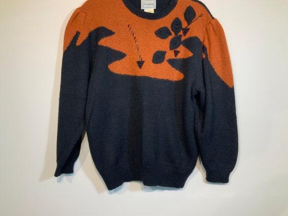 Puff Sleeve Beaded Sweater - image 5