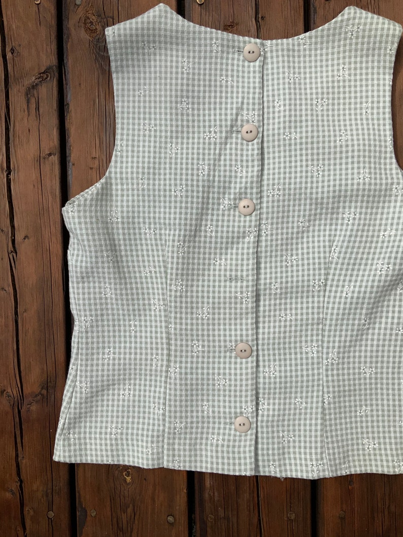 Checkered Floral Blouse
