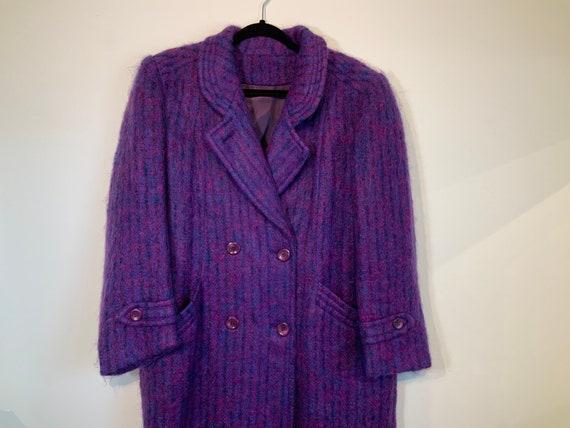 Mohair Wool Purple Coat M-L