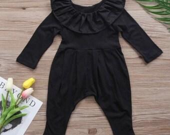 Baby girl black romper