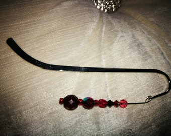 Red beaded bookmark