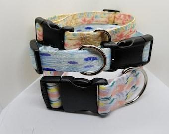 Custom Dog Collar - Adjustable, Pet Collar, Sublimation. Girl Dog Collar, Boy Dog Collar, Florals, Geometrics, Plaids, Prints, Textures