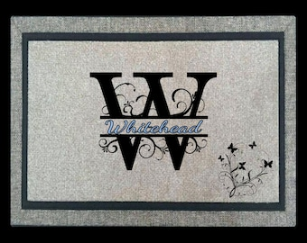 Personalized Door Mat - Personalized, Custom, Floor Mat, Welcome Mat, Rectangular
