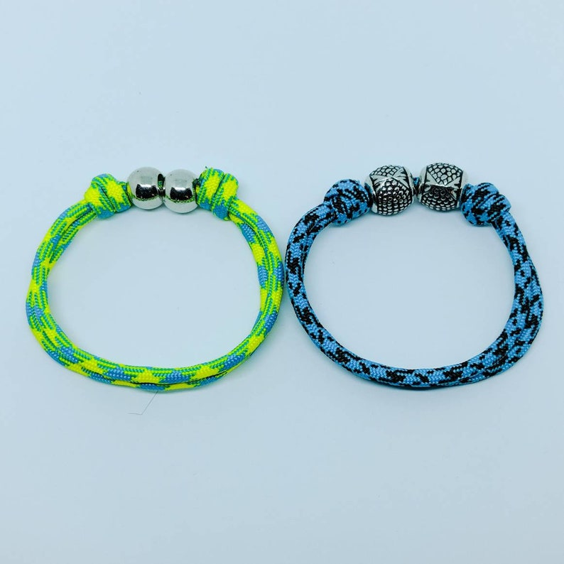Adjustable Paracord Bracelet With Acrylic Beads Paracord 550