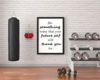 Workout room decor etsy