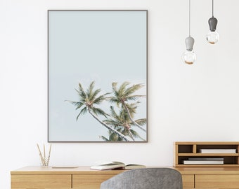 Vertical Wall ArtPalm Trees PrintDigital PrintWall Art PrintsPalm Tree PrintCalifornia ArtPrintable ArtPrint