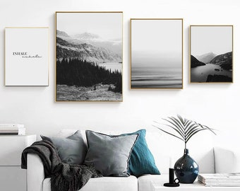 Merveilleux Coastal Art Set, Wall Art Set, Contemporary Art, Scandinavian Art, Wall Art  Prints, Large Wall Art, Bedroom Wall Decor, Gallery Wall Art