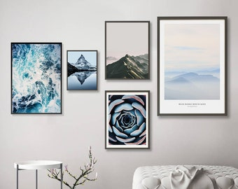 Turquoise Wall Art Etsy