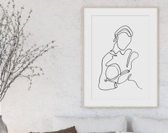 Modern Line Art Print, Abstract Wall Art, Minimalist Print, Modern Wall  Art, Wall Decor, Living Room Wall Art, Scandinavian Print