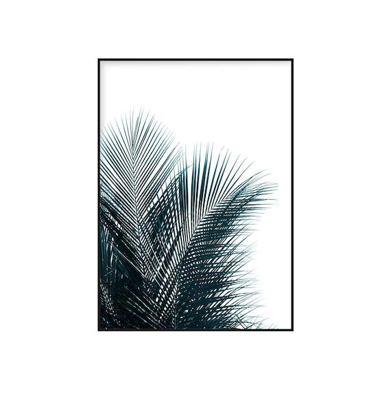 Palm drucken tropische Pflanze Dekor minimalistische Werk | Etsy
