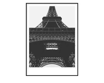 Eiffel tower,Paris wall art,Paris poster,Minimalist,Wall Art,Black and White,Living Room Wall Art,Printable Wall Art,Affiche,Poster