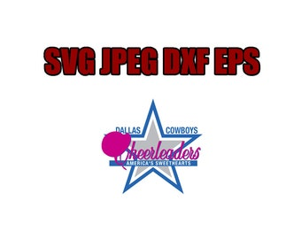 Dallas cowboys SVG File - Vector Design in, Svg, Eps, Dxf, and Jpeg Format for Cricut and Silhouette, Digital download !!!!!!!!!!!!!!!!!!