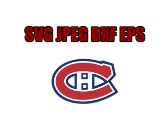 Montreal canadiens  SVG File - Vector Design in, Svg, Eps, Dxf, and Jpeg Format for Cricut and Silhouette, Digital download !!!!!!!!!!!!!!!!