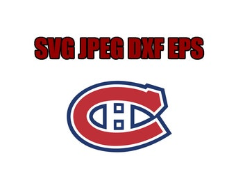 Montreal canadiens SVG File - Vector Design in, Svg, Eps, Dxf, and Jpeg Format for Cricut and Silhouette, Digital download !!!!!!!!!!!!!!!!!