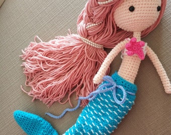 Crochet Mermaid Doll Etsy