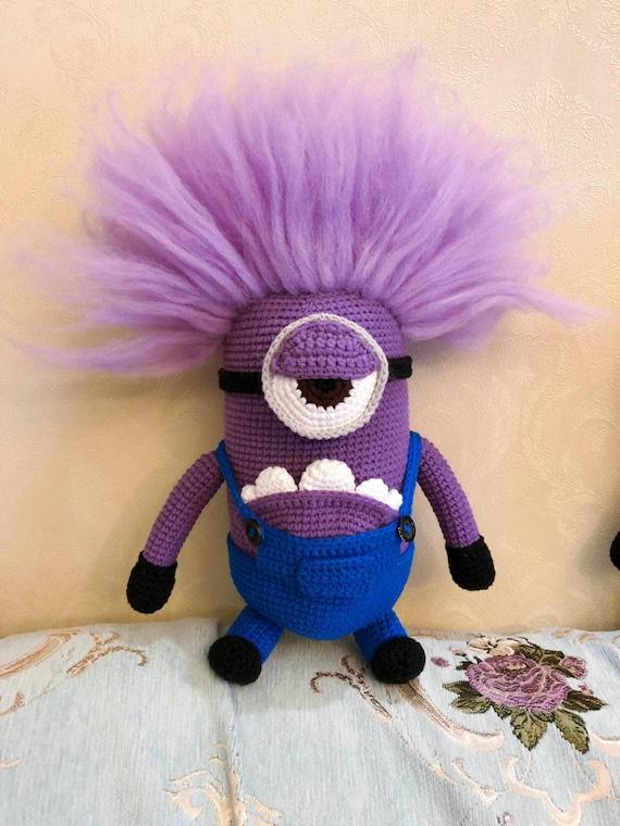 Lila Minion Monster Schergen Spielzeug Monster Amigurumi Etsy