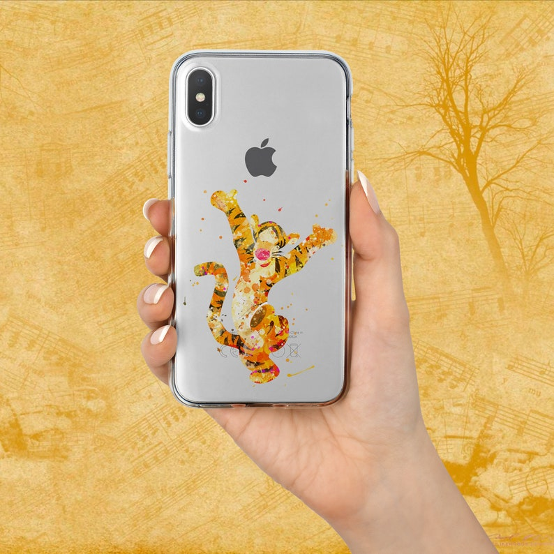 wholesale dealer fadf2 3213d Galaxy S10 Plus Cover Tigger case watercolour Pixel 3 XL cover iPhone X  Sumsung S8 phone case iPhone XS Max case Pixel 3 Note 8 Galaxy S9