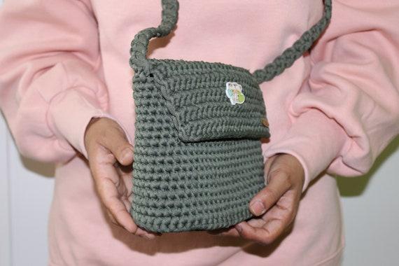 bandolera calidad tejido a Etsy crochet Bolso con de trapillo OqR4R