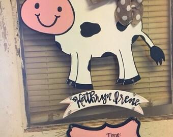 Dairy Cow Hospital Door Hanger