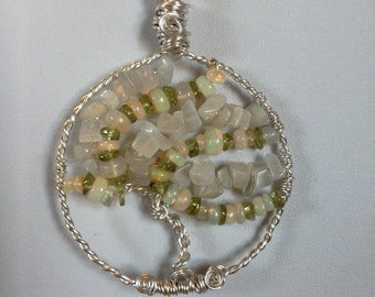 Welo Opal Tree of Life Necklace