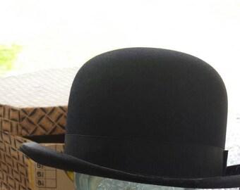 7c50fd4480508 Men s Vintage Derby Bowler Hat with Original Box