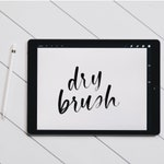 Dry Brush for iPad Pro with Procreate