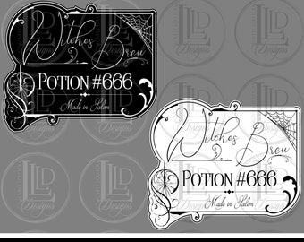Witches Brew Labels Etsy