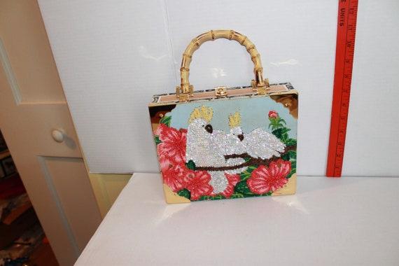Cigar box purse or sewing basket