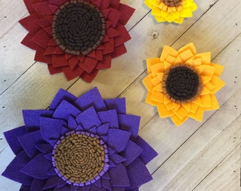 22a55d90948 Extra large felt sunflower