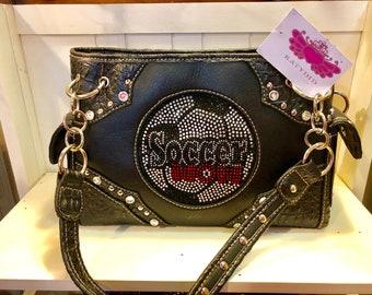 Black Soccer Mom Handbag